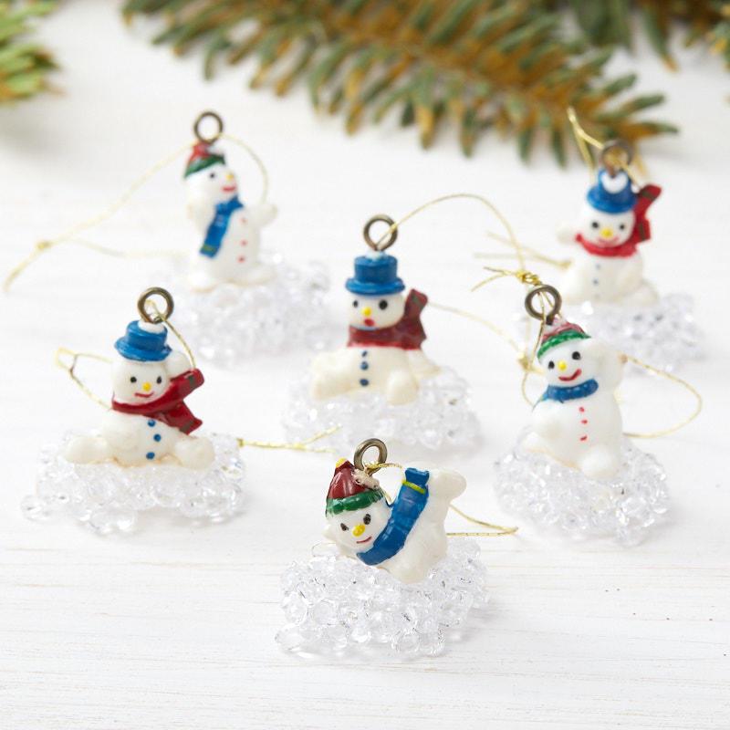 Dollhouse Miniature Christmas Snowman Planter