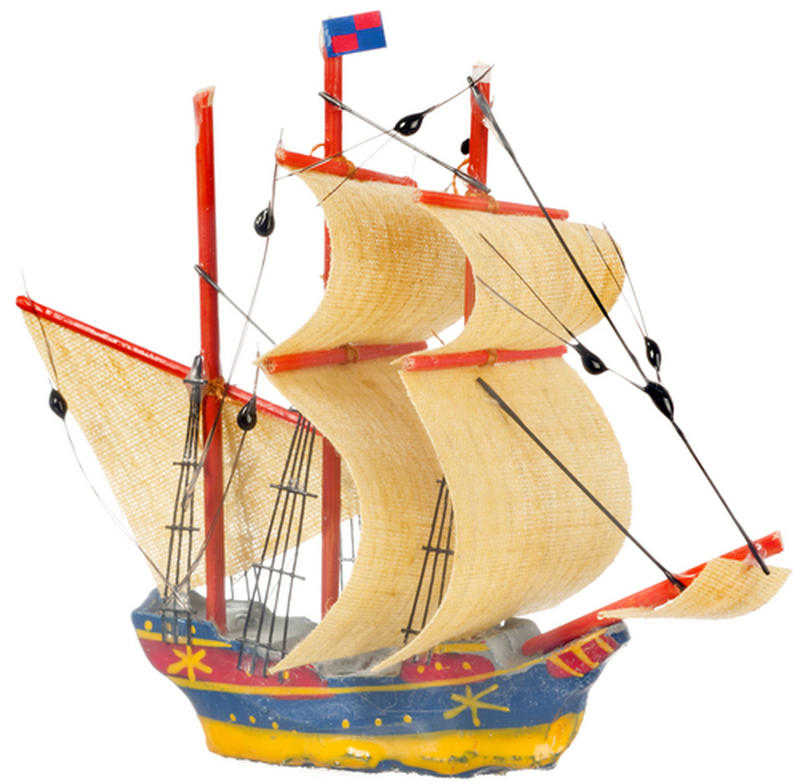 Dollhouse Miniature Model Ship - Miniature Home Decor
