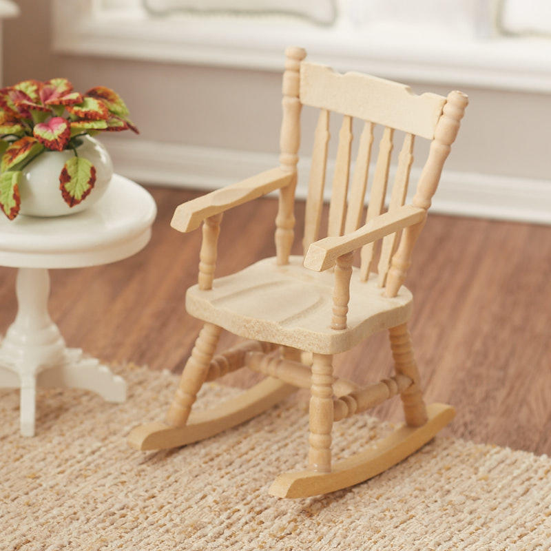 Amazing Dollhouse Miniature Unfinished Rocking Chair Caraccident5 Cool Chair Designs And Ideas Caraccident5Info