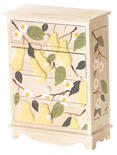 4-Drawer Pear Tree Doll Chest