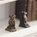Dollhouse Miniature Pineapple Resin Bookends