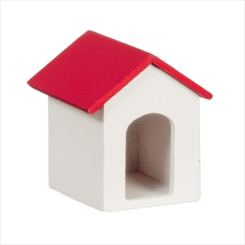 Dollhouse Miniature Backyard Doghouse