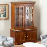 Dollhouse Miniature Walnut Lincoln Bookcase
