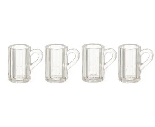 Dollhouse Miniature Set of 2 Empty Beer Mugs