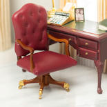 Dollhouse Miniature Governors Office Desk Chair