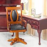Dollhouse Miniature Walnut Monte Carlo Gaming Table Chair