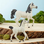 Papo Miniature Realistic White Arab Horse and Foal Set