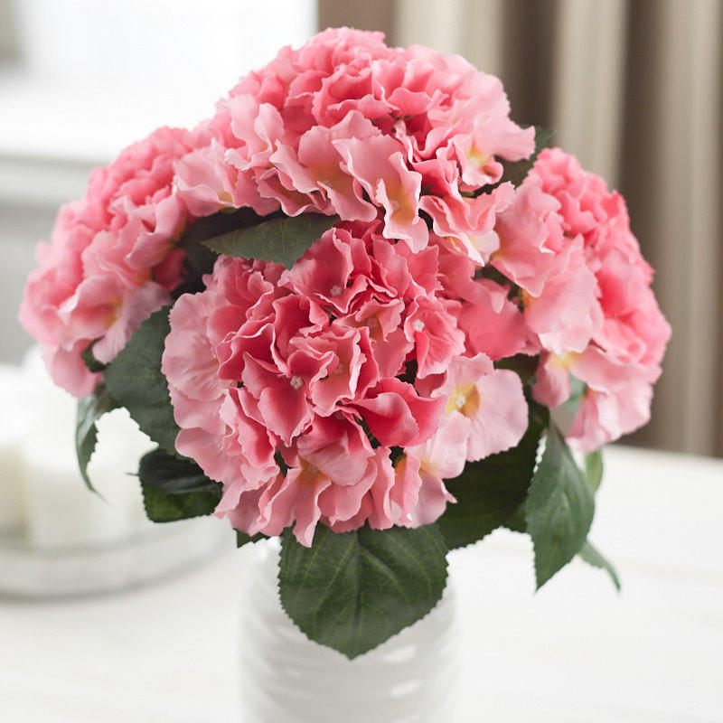 Pink Artificial Hydrangea Bush