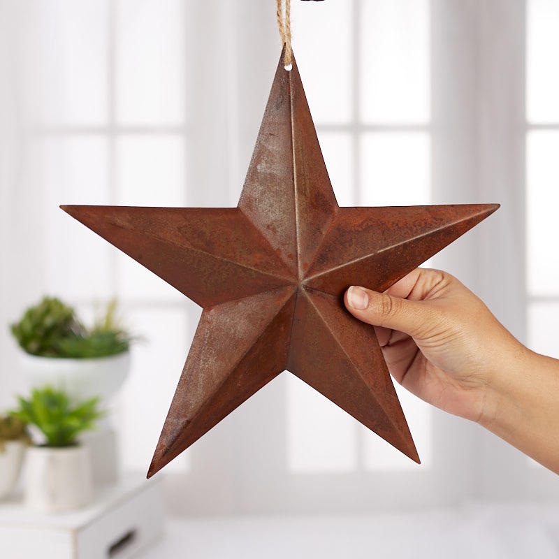 Primitive Rusty Tin Barn Star - Barn Stars - Primitive Decor