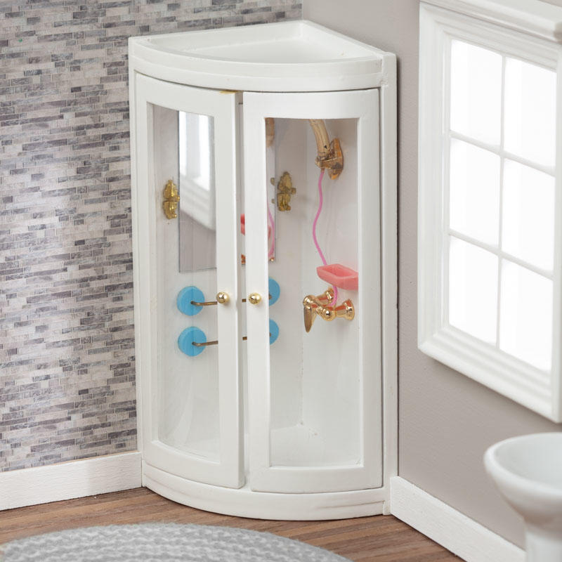 Dollhouse Miniature Corner Black Bathroom Set New In Package