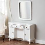 Dollhouse Miniature White Vanity with Mirror