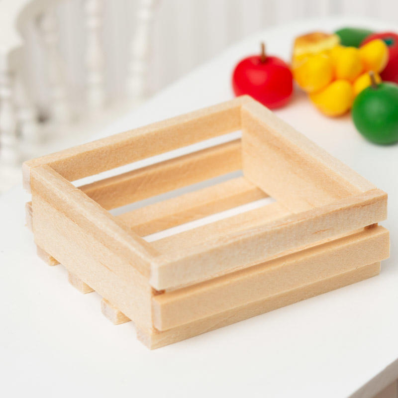 1:12 Dollhouse Miniatures Wooden Tray of Fruit Box Carton Decorating Supply