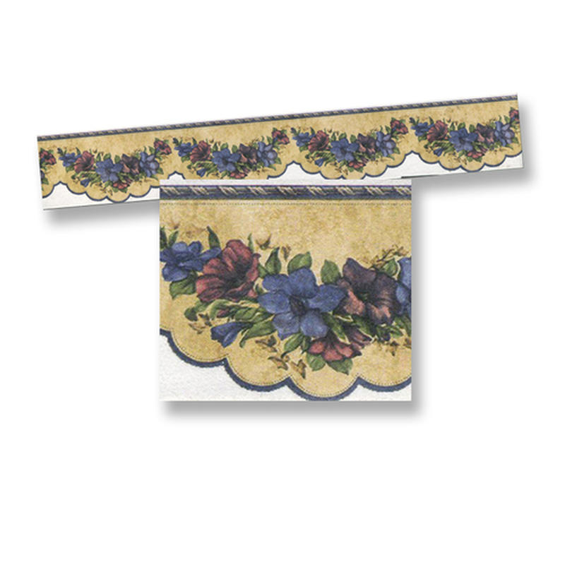 Dollhouse Miniature Scalloped Flower Wallpaper Border