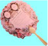 Dollhouse Miniature Victorian Fan
