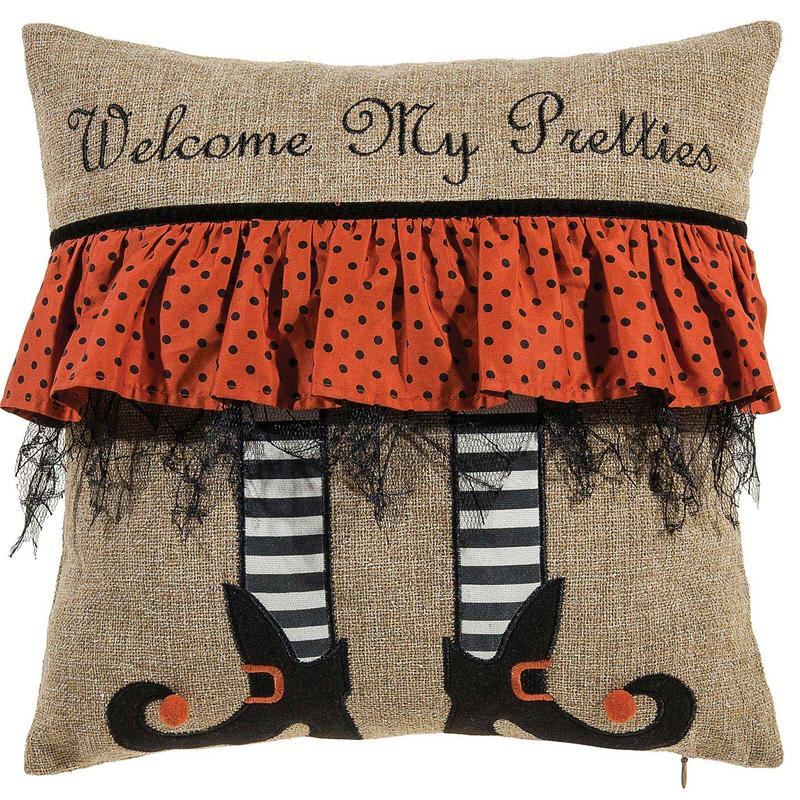 Quot Welcome My Pretties Quot Halloween Throw Pillow Decorative