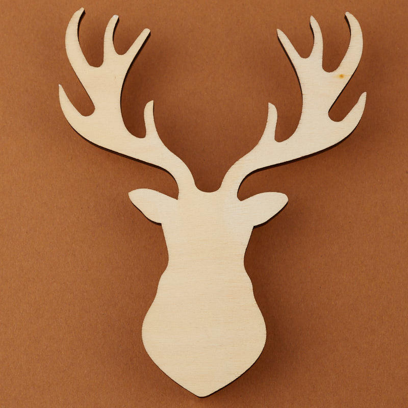 Unfinished Wood Deer Head Silhouette Cutout All Wood Cutouts Wood Crafts Craft Supplies Factory Direct Craft