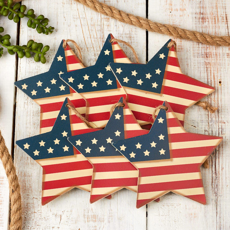 Americana Flag Star Ornaments Americana Decor Home Decor Factory Direct Craft