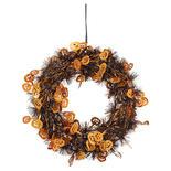 Halloween Pumpkin Tinsel Wreath