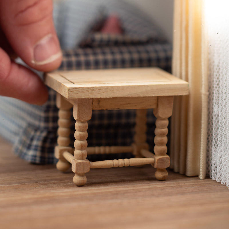 Dollhouse Miniature Unfinished Living Room Side Table