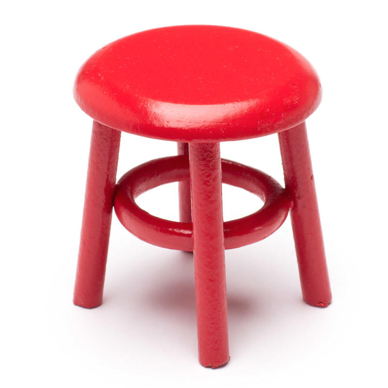 Pleasant Dollhouse Miniature Red Stool Gmtry Best Dining Table And Chair Ideas Images Gmtryco