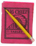 Dollhouse Miniature Big Chief Tablet w/ Pencil