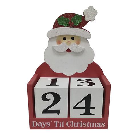 How Many Days Til Christmas.Days Til Christmas Santa Advent Calendar Tabletop Decor