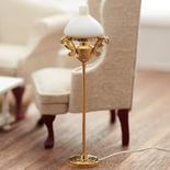 Dollhouse Miniature 12V Brass Victorian Floor Lamp
