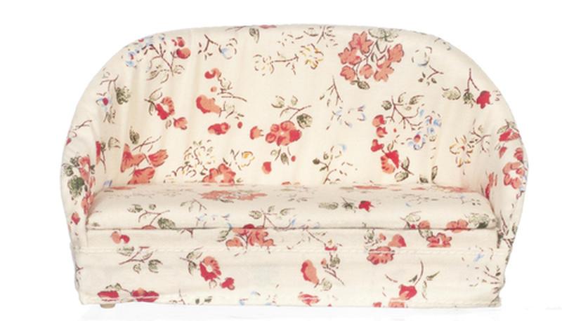 Pleasing Dollhouse Miniature Peach Floral Sofa Living Room Pabps2019 Chair Design Images Pabps2019Com