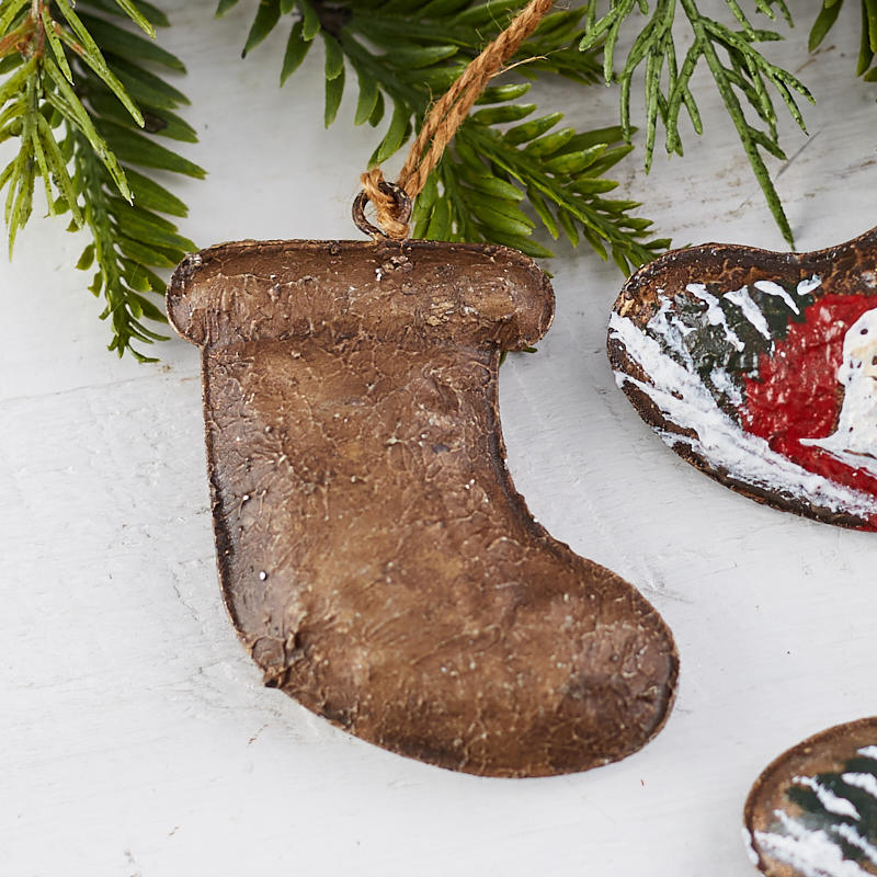 Rustic Christmas Stocking Ornament