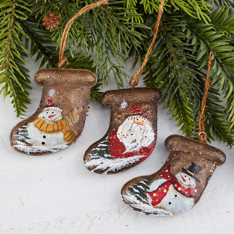 Rustic Christmas Stocking Ornament Christmas Ornaments Christmas And Winter Holiday Crafts Factory Direct Craft