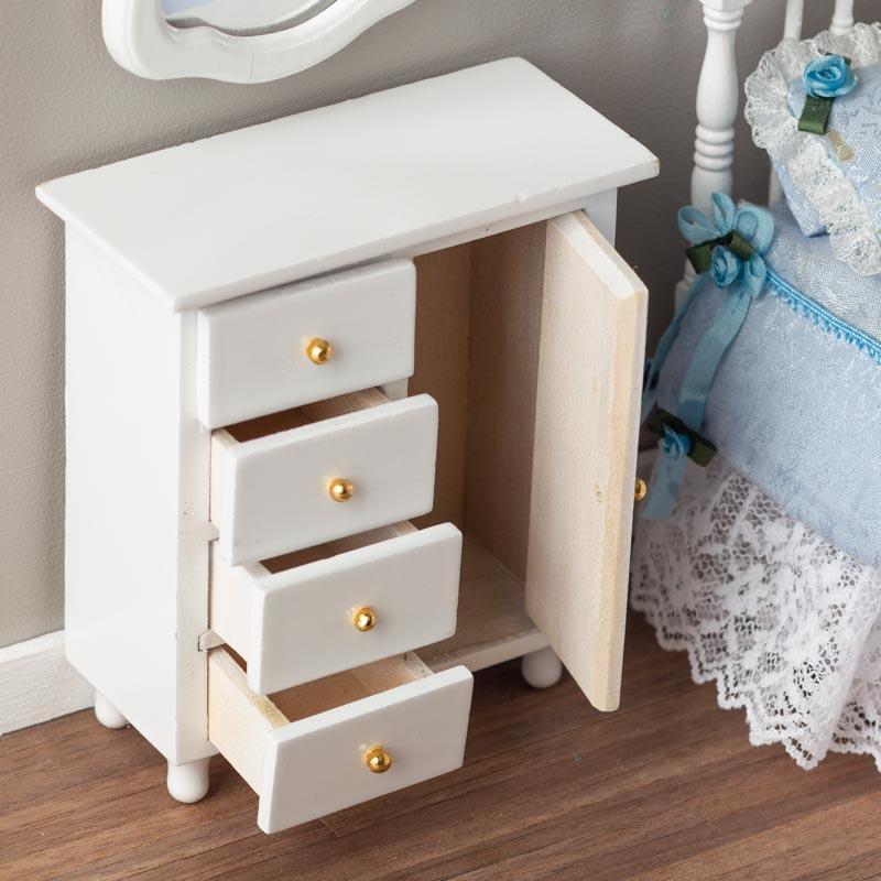 Dollhouse Miniature White Chifferobe - Nursery Miniatures ...
