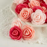 Assorted Pink Artificial Rose Heads