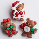 A Beary Merry Christmas Buttons