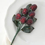 Artificial Beaded Raspberry Picks