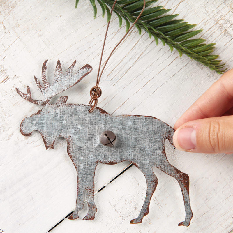 Rustic Woodland Galvanized Moose Ornament Christmas Ornaments Christmas And Winter Holiday Crafts Factory Direct Craft
