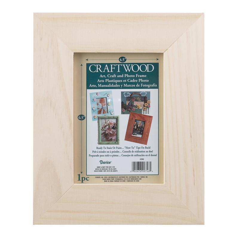 Unfinished Wood Photo Frame