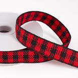 Red and Black Buffalo Plaid Wired Ribbon