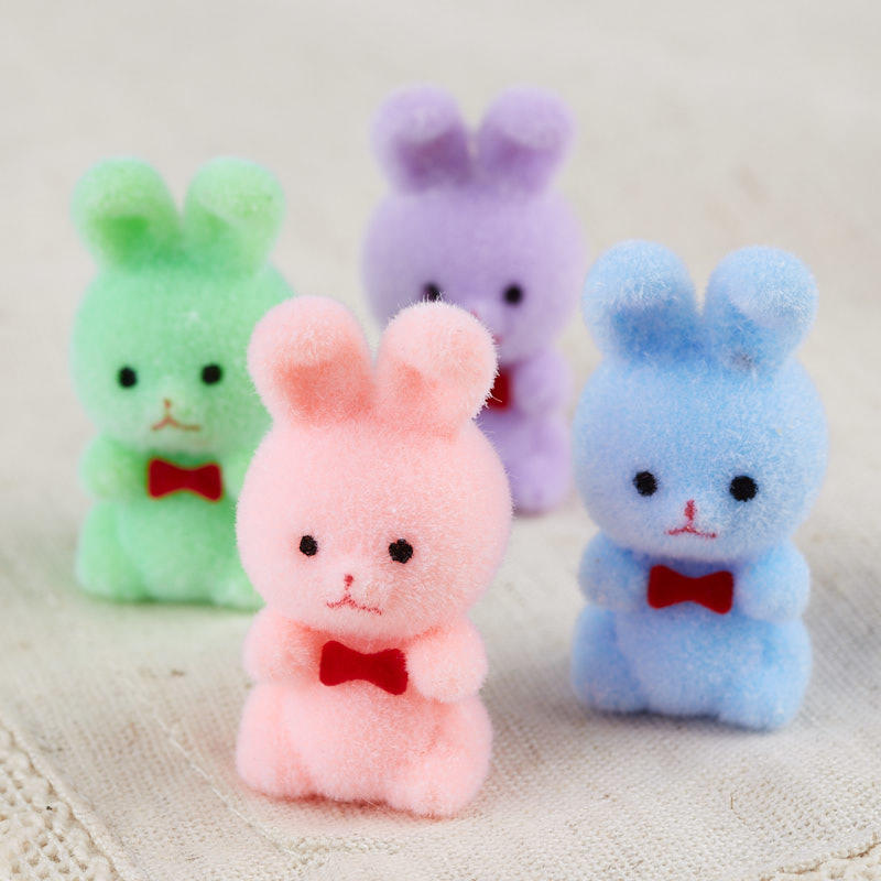 Pastel Miniature Flocked Bunnies Spring And Easter Holiday Crafts Factory Direct Craft