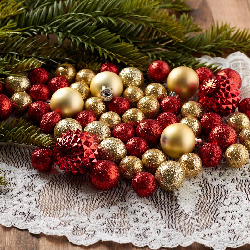 Christmas Tree Fillers.Floral Filler Ornament Ball Assortment