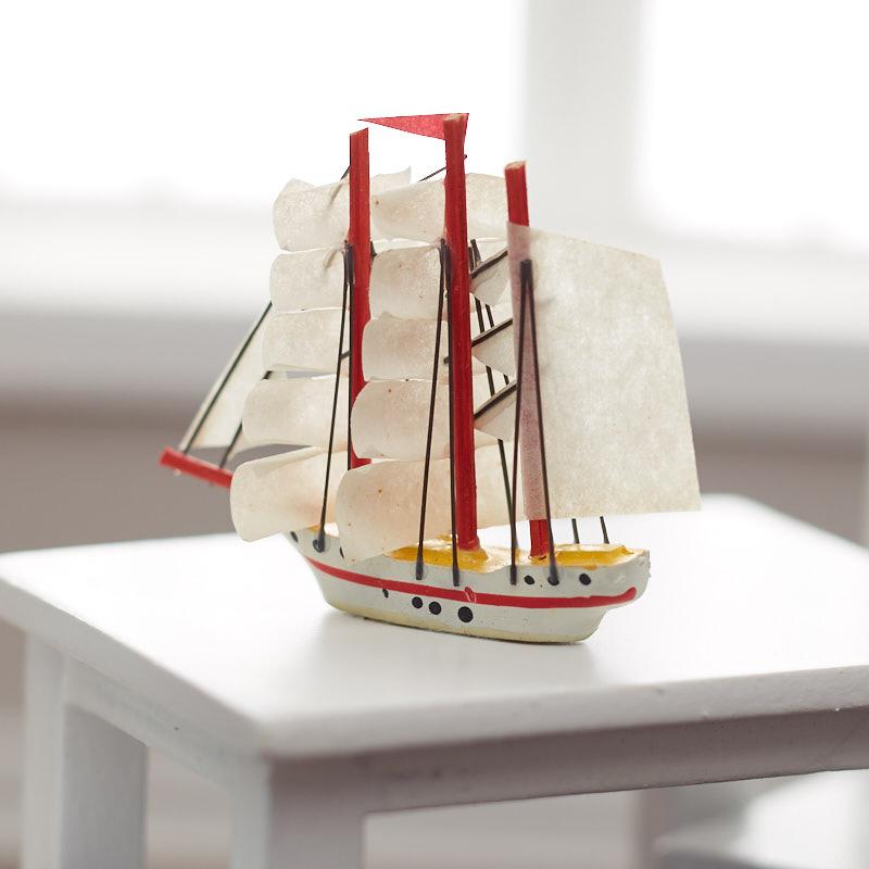 1//12 scale dollhouse miniature RA0303 Sail Boat Clipper Ship
