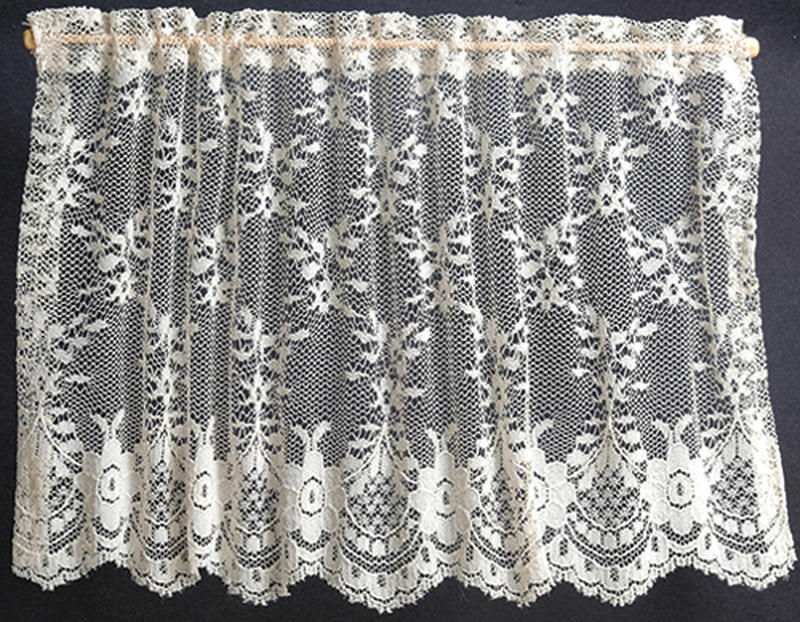 Dollhouse Miniature Lace Pink Curtain For 1//12 Scale Dollhouse Furniture Dec/_BB