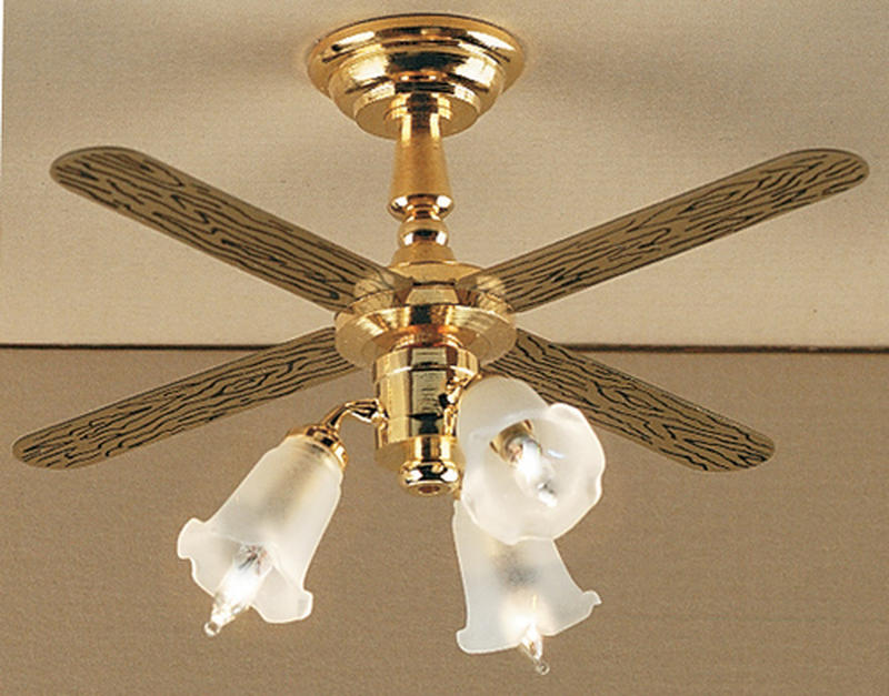 Dollhouse Miniature 3 Tulip 12v Ceiling Fan Lighting Miniatures Dollhouse Miniatures Doll Supplies Craft Supplies Factory Direct Craft