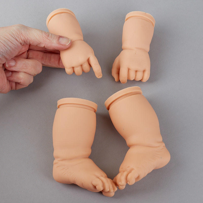 Vinyl Baby Doll Hands And Feet Set Plastic And Vinyl