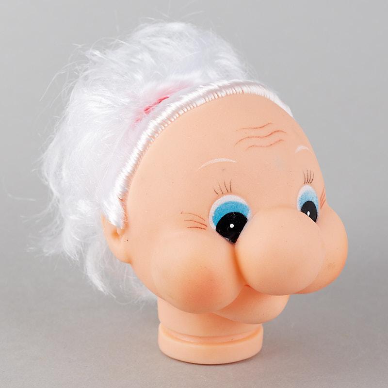 Grandma Vinyl Doll Head True Vintage Plastic And Vinyl