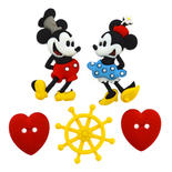 Dress It Up Steamboat Willie Buttons