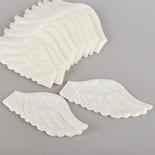 Iridescent White Embossed Angel Wings - True Vintage
