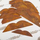 Bulk Assorted Rusty Tin Angel Wings Cutouts