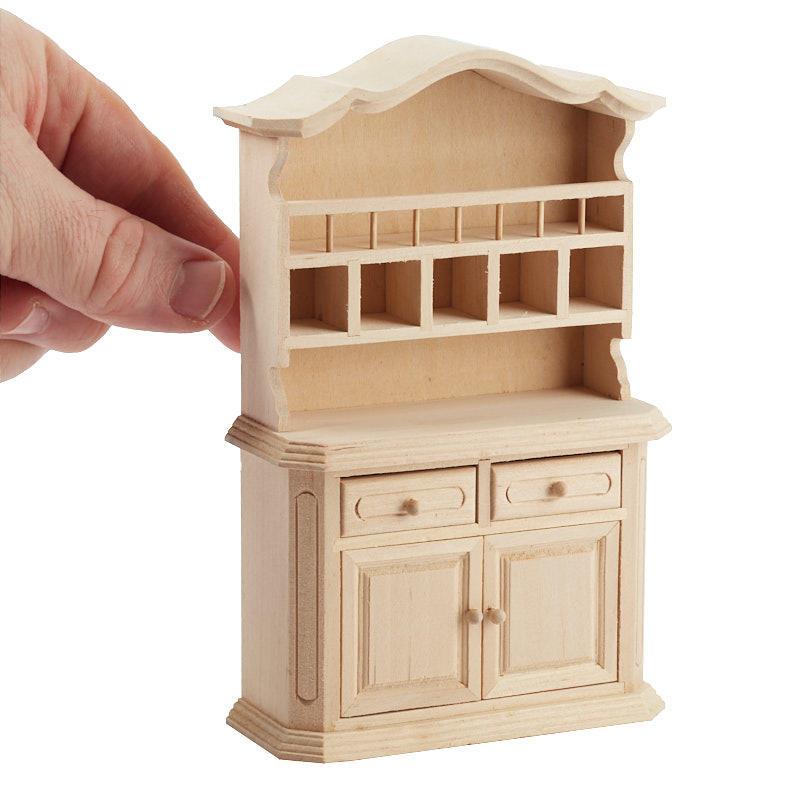 Unfinished Dollhouse Miniature Buffet