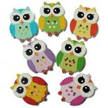 So Cute Owls Buttons