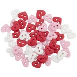 Micro Dress It Up Valentines Heart Buttons